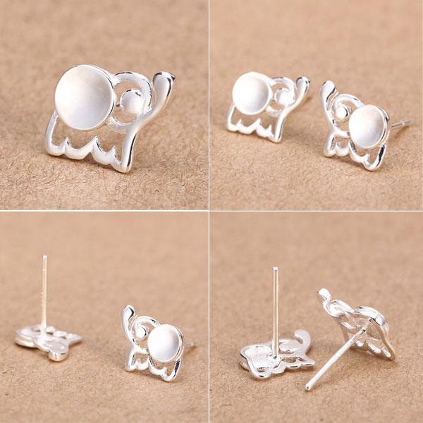 Latest Baby Elephant 925 Silver Stud Earrings/Ear Studs