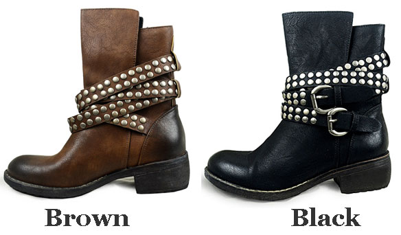 Punk Rivet Cross Belt Buckle Martin Boots/Shoes