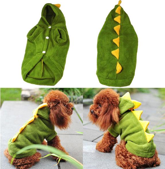 Green Dinosaur Pattern Dog Clothes/Pet Clothes