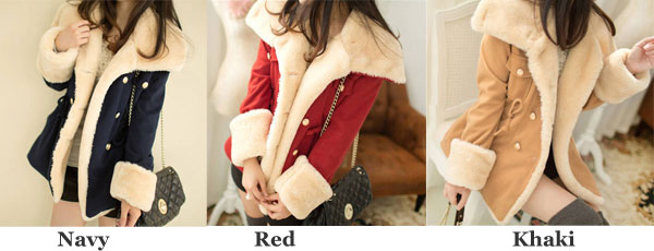 Sweet Thicken Cotton College Jacket/Woolen Coat
