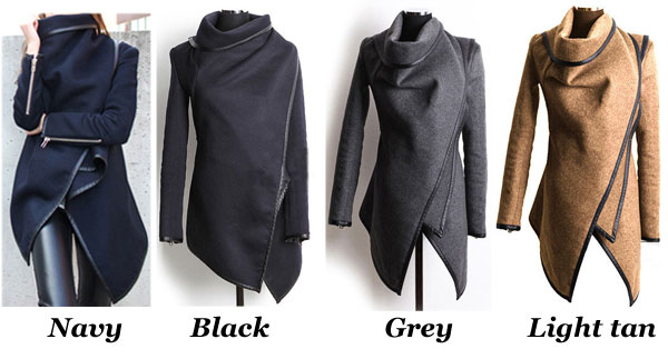 Unique Slim Irregular Woolen Coat/Windbreaker/Jacket