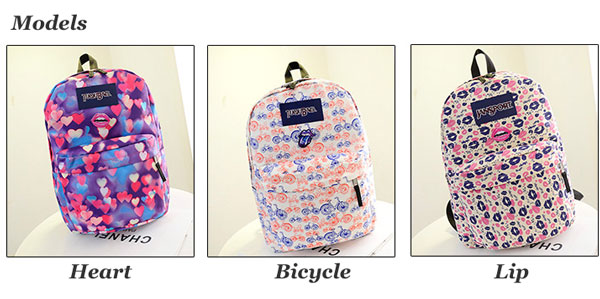 ae8918737d Cute Lip Heart Print Girl Backpack