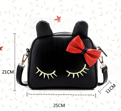 Cute Cat Bow Mini Shoulder Bag Messenger Bag