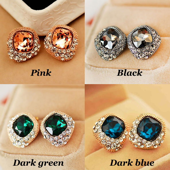 Luxury Rhinestone Crystal Wedding Earrings