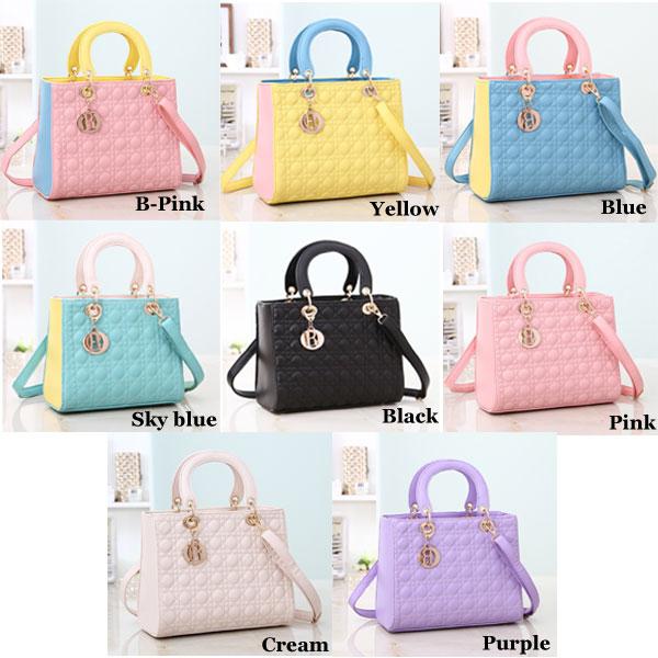 Candy Colors Rhombic Handbag Shoulder Bag