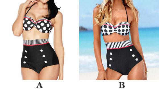 Slim High Waist Dot Swimsuit Bikini