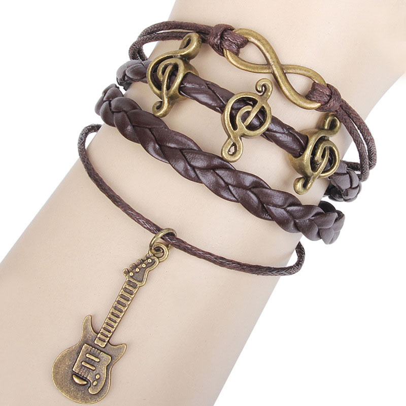 Happy Music Notes Guitar Infinity Music Bracelet