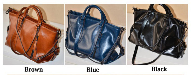 Fashion Glossy Commuter Handbag & Shoulder Bag