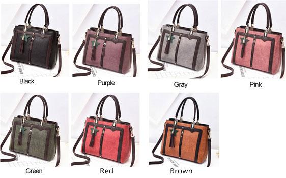Retro PU Star Tassel Lady Shoulder Bag Women Handbag