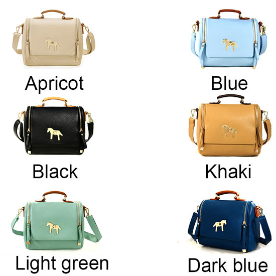 fashion Cute Sweet Gold Horse Shoulder Bag