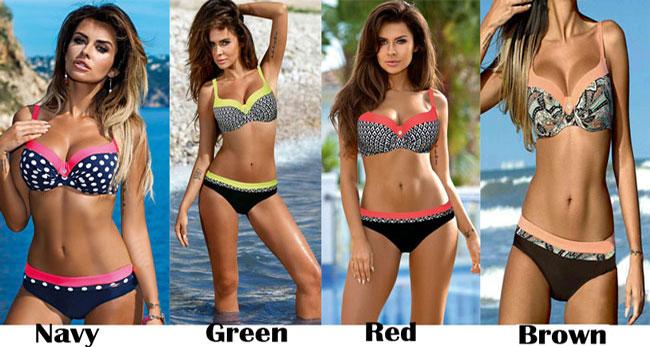 Sexy Women's Summer Bikinis Dot Leopard Prints Straps Beach Swimwear