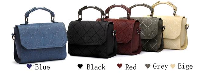 Fashion Scrub Shoulder Bag Quilted Ladies Satchel Tote Purse Women Handbag