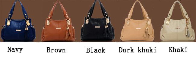 Elegant Casual Tassel Purse & Shoulder Bag