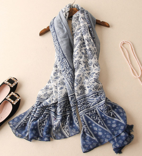 Country Style Tassel Long Cotton Scarves