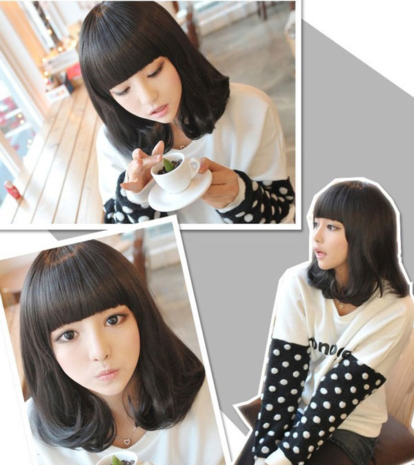 Cute Pear Style Short Hair Wig