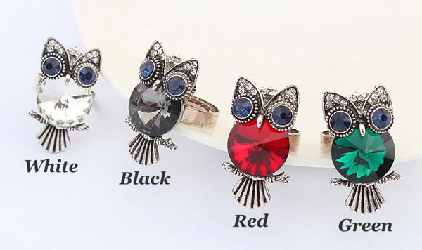 Personality Retro Style Owl Animal Ring