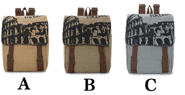 Forever British Fashion School Canvas Backpack