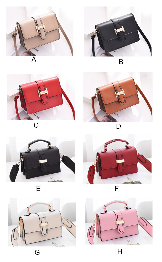 Fashion Ladies H Button Simple Women Shoulder Bag