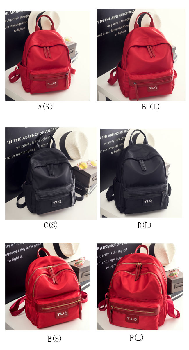 Simple Oxford School Backpack Pure Color Student Bag