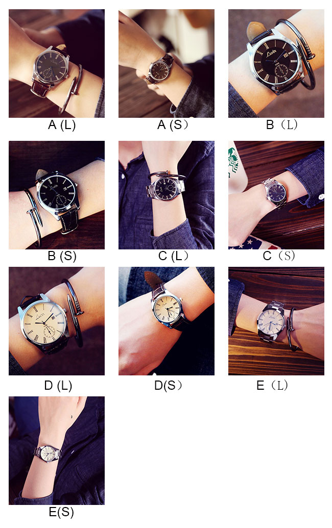 Fashion Simple Big Dial Student Leisure Couple Ultra-thin Waterproof Man Quartz Watch