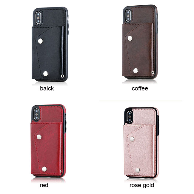 Retro Multi-functions Hatter-resistant Mobile Phone Case Support Card Iphonex Cases
