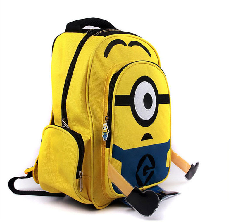 Lovely Simple One Eye Minions Cartoon Backpack