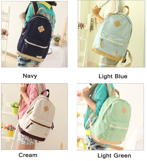 Fresh Trunk Dot Lace Backpacks