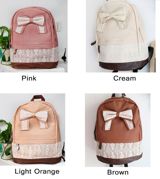 Cute Lace Floral Sweet Bow Backpacks | Fashion Backpacks | Fashion ...