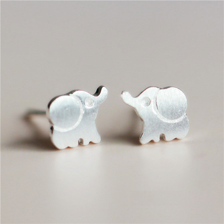 Fresh Fashion Cute  Elephant S925 Sterling Earring