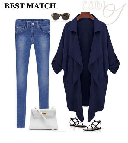 Slim Loose Big Lapel Cardigan Windbreaker/Jacket
