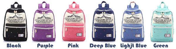 Fashion Flowers Cartoon Eiffel Tower Printing Large Capacity Lace Bag School Backpack