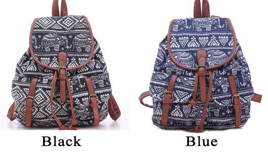 fb9238d96 Leisure Elephant School Rucksack For Girl Totem Canvas Bag College Backpack
