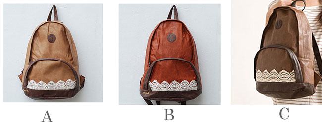 Latest Cheap Fashion Lace PU Backpack