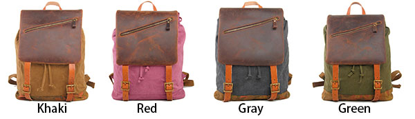 Retro Large Travel Rucksack Handmade Thick Real Leather Splicing Outdoor Men Backpack