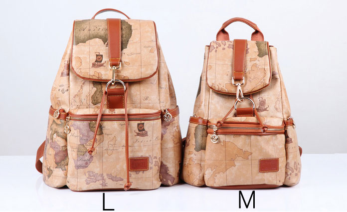 fashion Retro Leisure World Map Backpacks