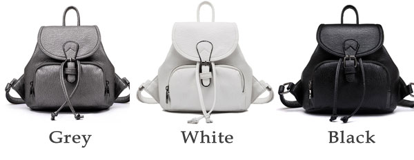 Black White Mini Simple Women College Backpack