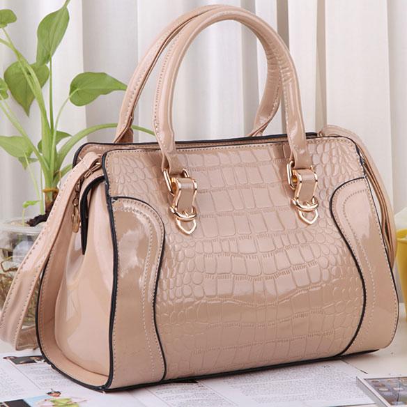 Fashion Elegant Croco Hardcover Handbag