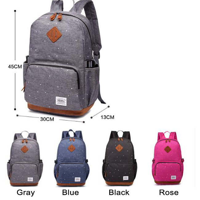 Leisure Large Dot Elephant Nose Travel Bag Oxford Cloth Student Backpack