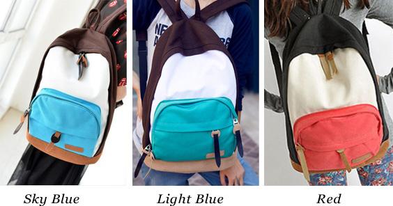 Leisure Multicolor Canvas School Backpacks