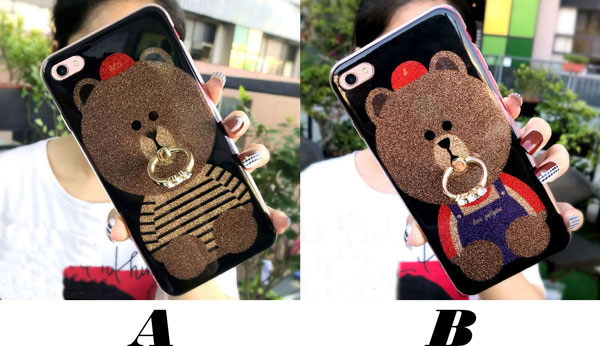 Cute Shining Bear Glossy Iphone Cover Animal Iphone 6/6s/6 plus/6s plus/7/7 plus/8/8 plus Iphone Cases