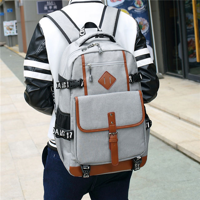 Fashion Oxford Cloth Waterproof Bag Computer Bag Large Outdoor Travel Men's Backpack