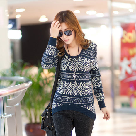 Christmas Geometry Snowflake Sweater Cardigans