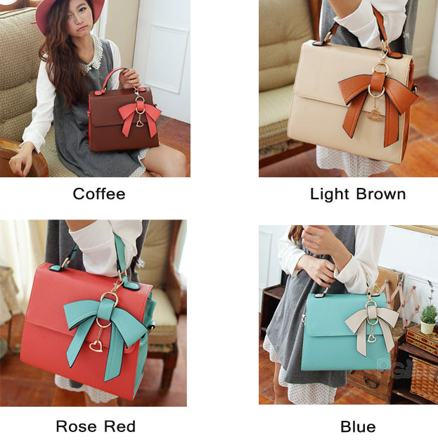 Fashion Elegant Dimensional Bow Handbag