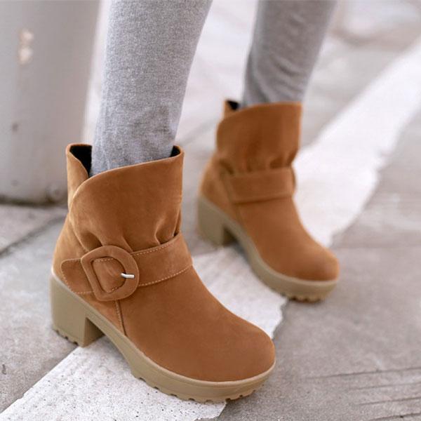 Sweet Belt Fastener Rough Heels Martin Boots