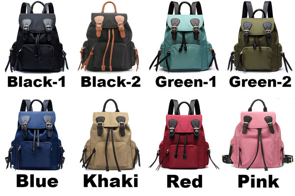 Unique Girl's Splicing Belts Pure Colored Waterproof Student Backpack Oxford School Backpack