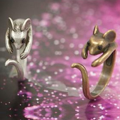 fashion Mouse Opening Animal Wrap Rings