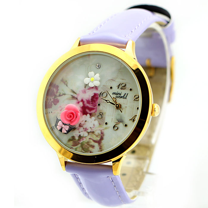 Cute Rose Gold Edge Polymer Clay Watch