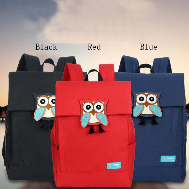 Cute Owl Waterproof College Rucksack Leisure Solid Travel Canvas Backpacks