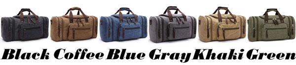 Retro Travel Large Sport Washing Multi Pockets Canvas Shoulder Bag