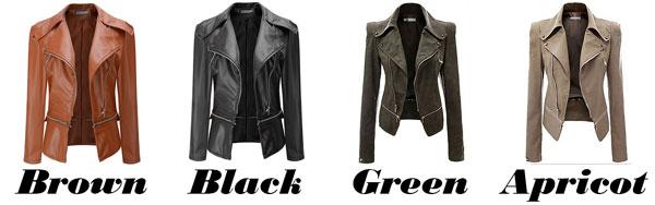 Fashion PU Leather Zipper Jacket Autumn Coat PU Clothes Motorcycle Leather Jacket